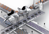 graphic of robot on assembly line