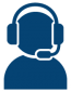 icon of a person wearing an headset